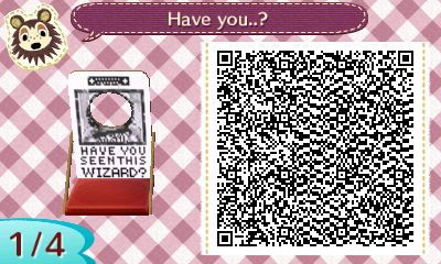 Sirius Black - Wanted Poster Face Board - Animal Crossing New Leaf QR Codes. Click on the link to get all of the Codes!