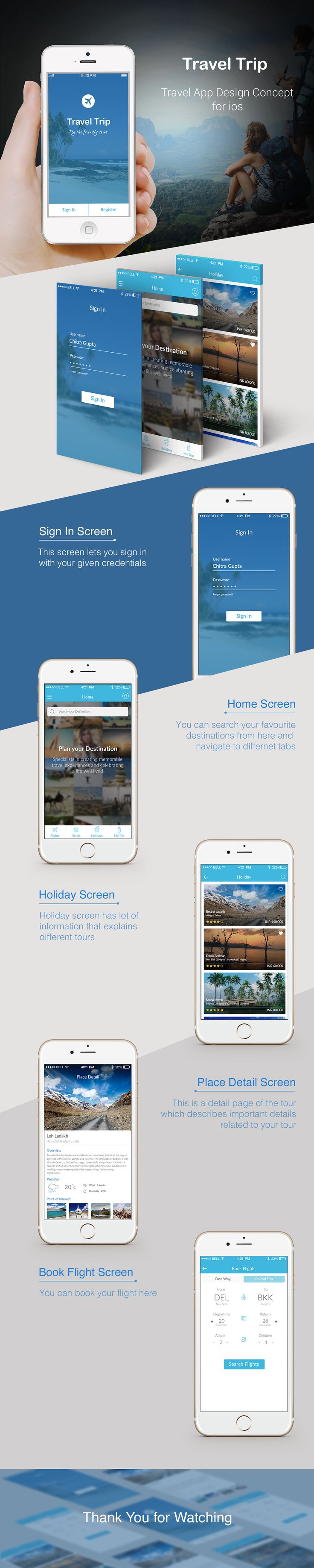 Travel App Design on Behance