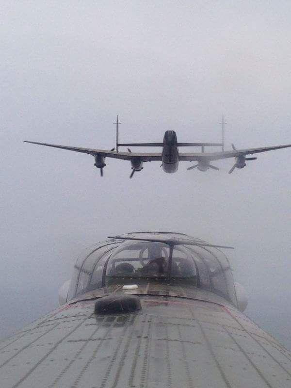 cherniydiavel:  girlintheshade:  stukablr:  Avro Lancaster  <3  amazing shot!