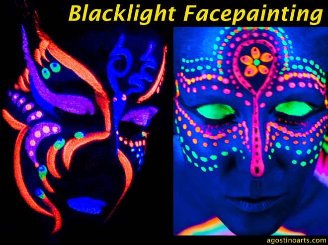 black light makeup - Google Search
