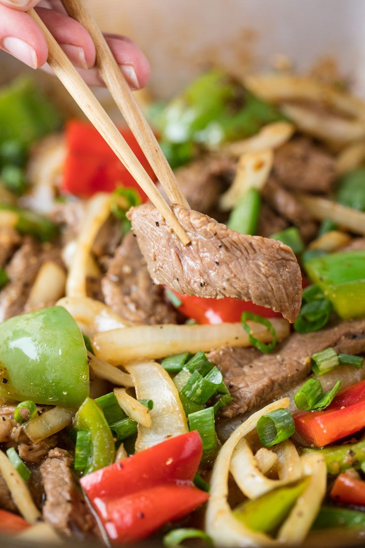 Easy Chinese Pepper Steak will quickly become a family favorite. This quick take-out fake-out dinner is ready in just 15 minutes!