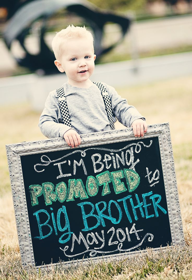 Pregnancy Announcement - This is our son announcing to the world that he is being promoted to Big Brother!