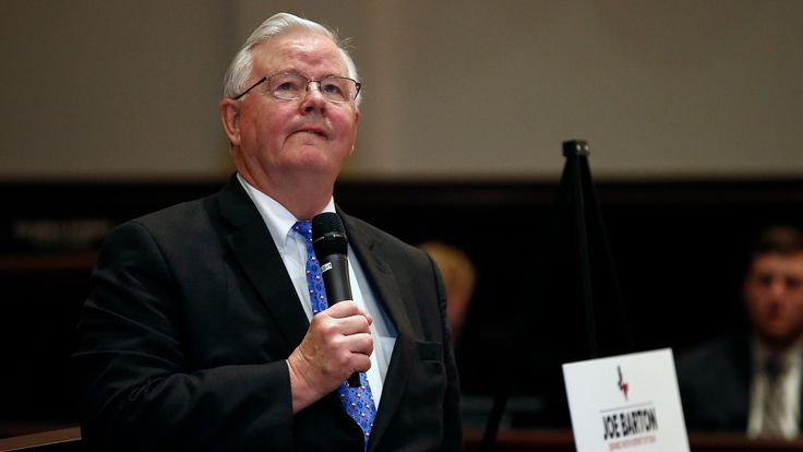Republican U.S. Rep. Joe Barton, Texas' most-senior member of Congress, announced Thursday that he won't seek re-election after a nude photo of him circulated online and a Republican activist revealed messages of a sexual nature from him.