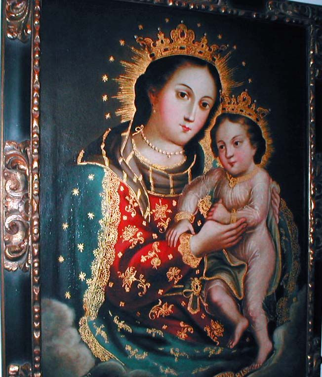 Our Lady of Refuge, Nuestra Señora del Refugio, is Patroness of Both Californias. The Franciscan missionary Francisco Diego Garcia y Moreno was the first Bishop of the Californias-->Baja California and Alta California (upper Calfornia in the present U.S.A.). It was he who proclaimed Nuestra Señora del Refugio, Patrona de las Ambas Californias. The official proclamation was made by Bishop Garcia Diego on January 4, 1843, at Mission Santa Clara in Alta California.