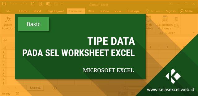 Menjelaskan tentang tipe atau jenis data pada microsoft excel yang meliputi data label, value dan tipe formula