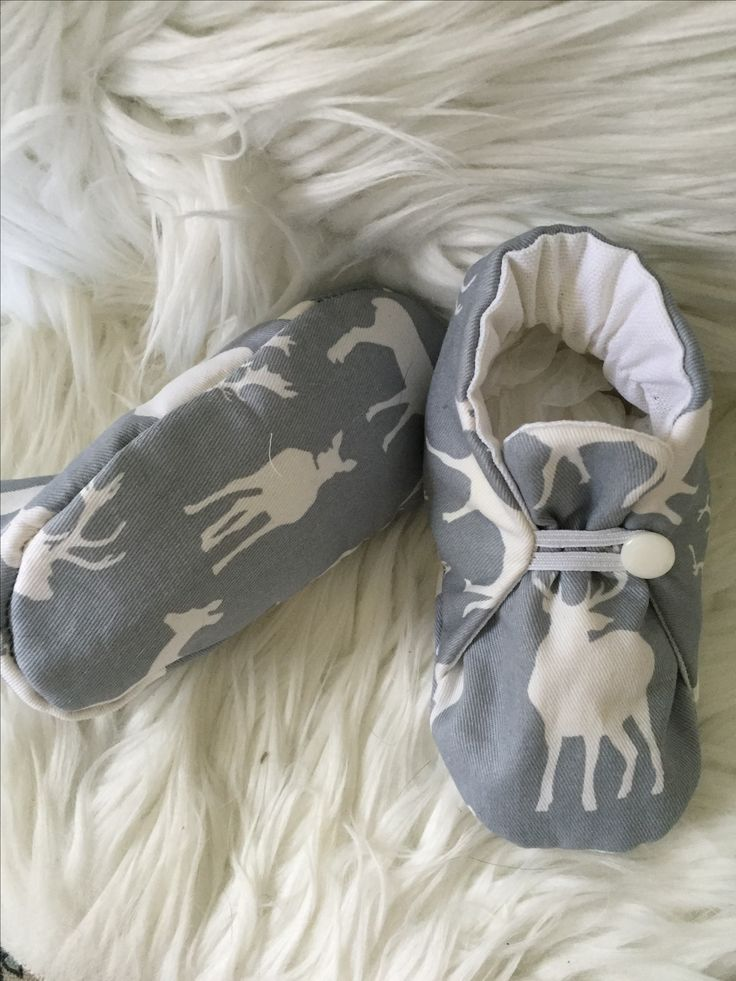 Cotton quilted deer print slippers