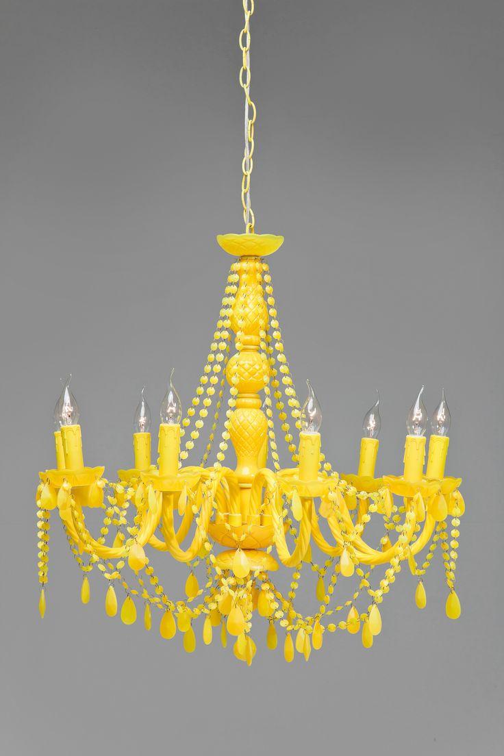 Yellow Baroque Chandelier