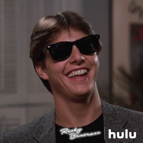 hulu 1980s tom cruise teens rock and roll risky business #humor #hilarious #funny #lol #rofl #lmao #memes #cute