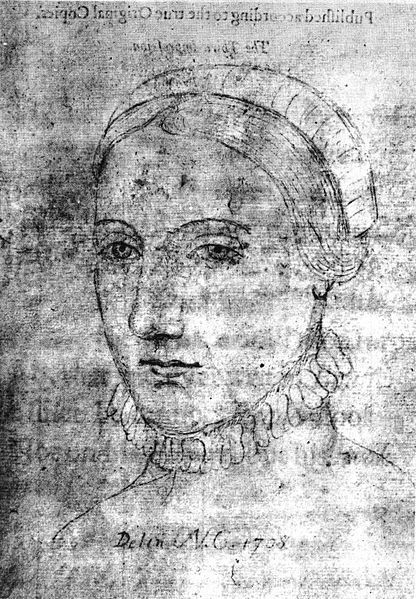 Anne Hathaway died August 6th, 1623 wife of William Shakespeare.