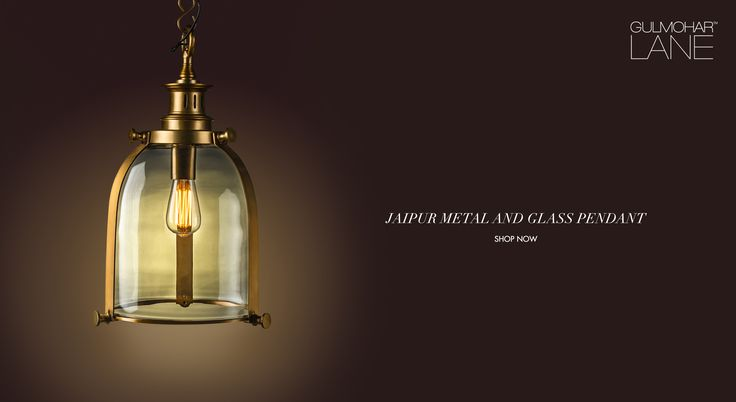 The elegance of our Jaipur metal and glass pendant is unparalleled. Traditionally, the carefully handcrafted pendant design would illuminate the vast corridors and aisles of royal palaces and speak volumes about their fine taste.  Product Link: http://www.gulmoharlane.com/products/jaipur-metal-and-glass-pendant