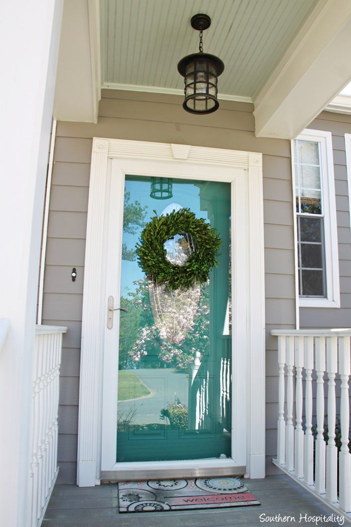 Best 20 glass storm doors ideas on pinterest storm for Front door with storm door