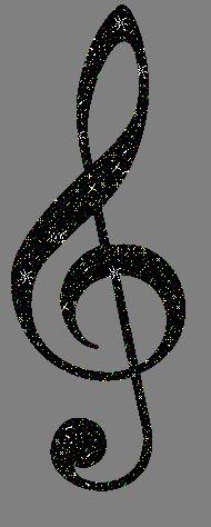 G Clef Black Glitter Graphic Glitter Graphic Comment