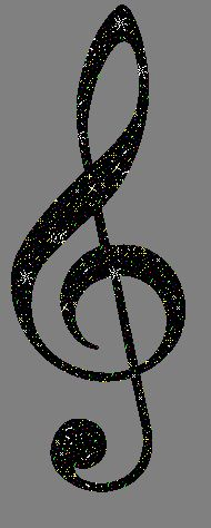 G Clef Black Glitter Graphic Glitter Graphic, Greeting, Comment, Meme or GIF