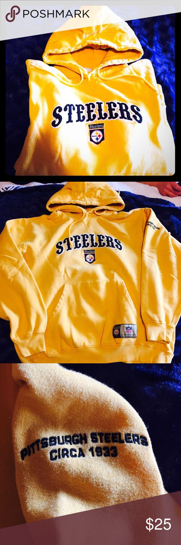"NFL Pittsburgh Steeler's Hoodie Size L 85/15 Cotton blend hoodie.  Steelers logo in from and ""PITTSBURGH STEELERS CIRCA 1933"" on left sleeve. Gently worn and in excellent condition. NFL Originals Shirts Sweatshirts & Hoodies"