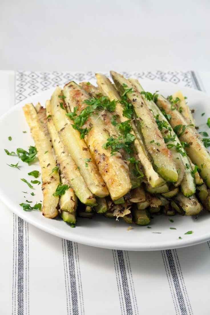 Zucchine al forno con Parmigiano / Baked Parmesan Zucchini
