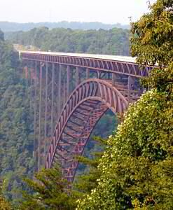 New River Gorge Bridge West VA...I would seriously cry the entire way over this, but it would be awesome!