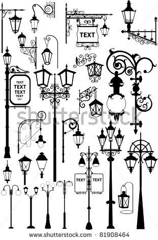 Retro and modern street lanterns by ntnt, via Shutterstock