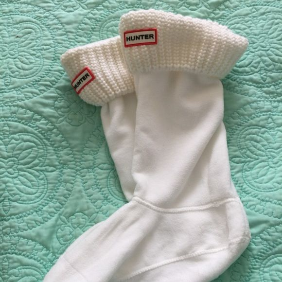 Tall white knitted Hunter Boot Liners/socks Brand new, worn once Hunter Boots Other