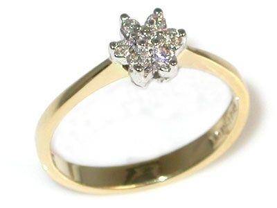 Bague délicate à diamants en forme de fleur | Bijouterie Langlois