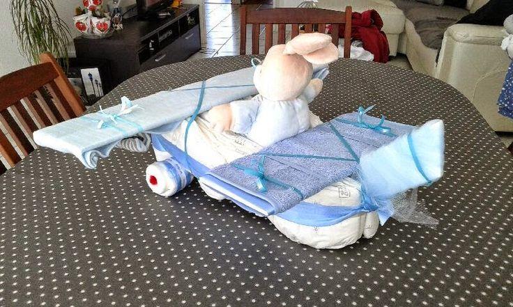 gâteau de couches garçons  avion