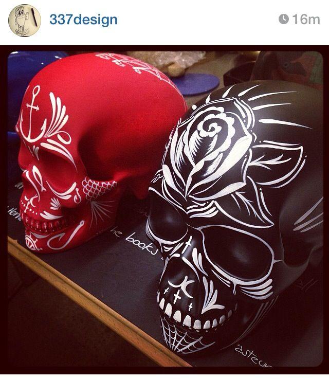 337 Design pinstriped skull. Go follow on Instagram