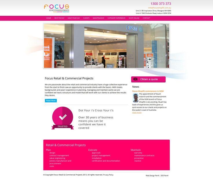 Focus Shop Fit Web Design by Star 3 Media