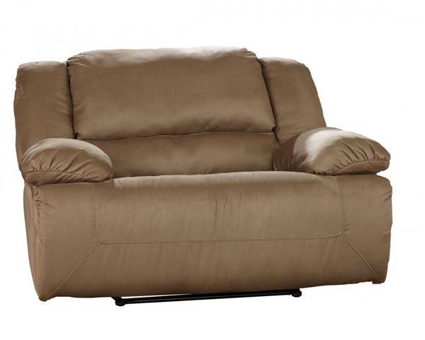 Hogan contemporary mocha zero wall recliner w wide seat for Ashley hogan mocha pressback chaise