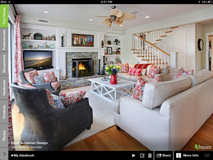This Size But Without Wood Trim On Sides   San Clemente Remodel    Traditional   Living Room   Orange County   Darci Goodman Design Part 96