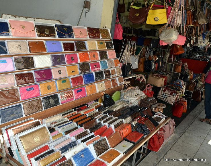 Koh Samui Island Info Picture Galleries Temples Beaches Shopping night | Nathon Shopping Gallery