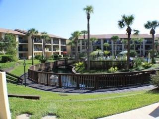 Ocean Villas 136- Ground Floor 3 Bedroom Condo on Lagoon. Very large patio!!