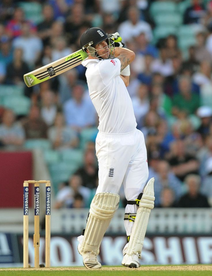 Kevin Pietersen batted in typically aggressive fashion, England v Australia, 5th Investec Test, The Oval, 5th day, August 25, 2013