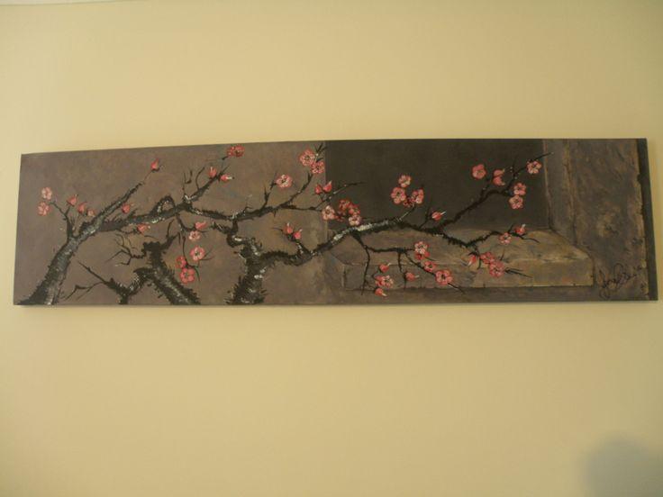 Cherry Blossom - Acrylic on canvas
