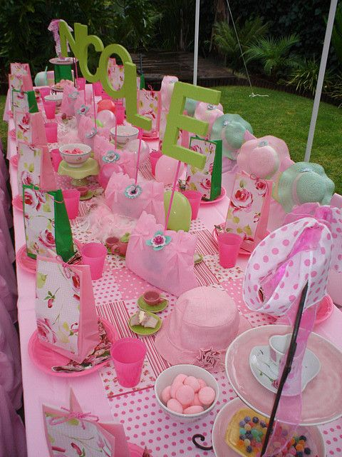 """English High Tea"" Party by Treasures and Tiaras Kids Parties."