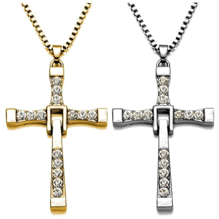 Fast and Furious Pendant Dominic Toretto Cross Men's Necklace
