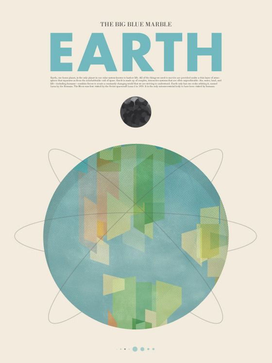 Earth by Stephen Di Donato: Posters Series, Stephen Di, Di Donato, Posters Design, Retro Posters, Graphics Design, Science Fiction, Planets Earth, Design Posters