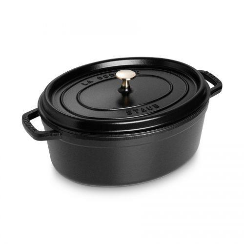 Cocotte kratzfest oval 33 cm 6,7 l schwarz