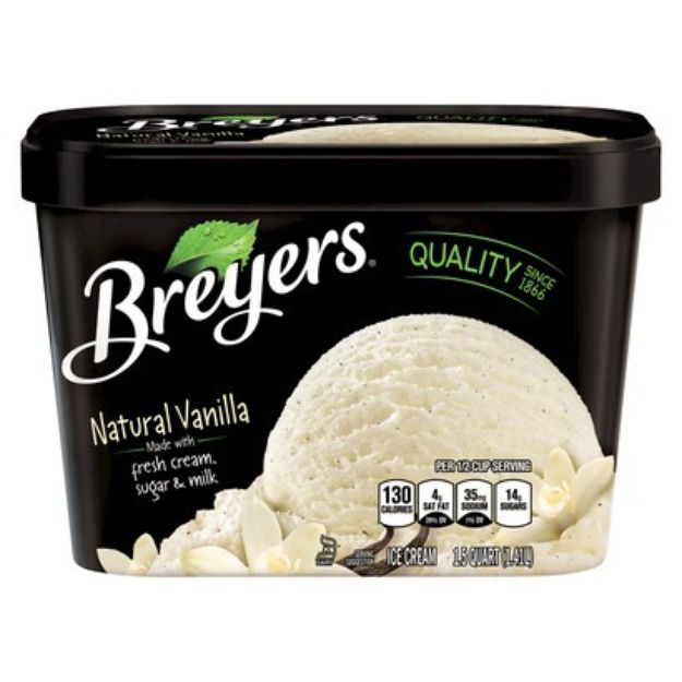 I'm learning all about Breyers Ice Cream Natural Vanilla at @Influenster! @breyers FAVORITE! #influenster