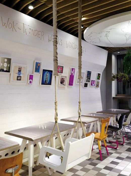 Seems Like A Liability But LOVE The Swing Chair. WakuWaku Restaurant  Interior Design, Dining Area Modern And Urban Lifestyle