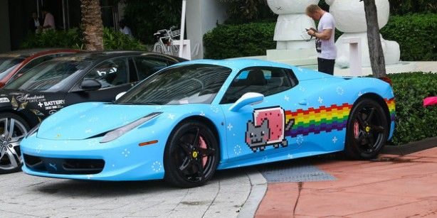 deadmau5 ferrari nyan cat car results in cease and desist. Black Bedroom Furniture Sets. Home Design Ideas