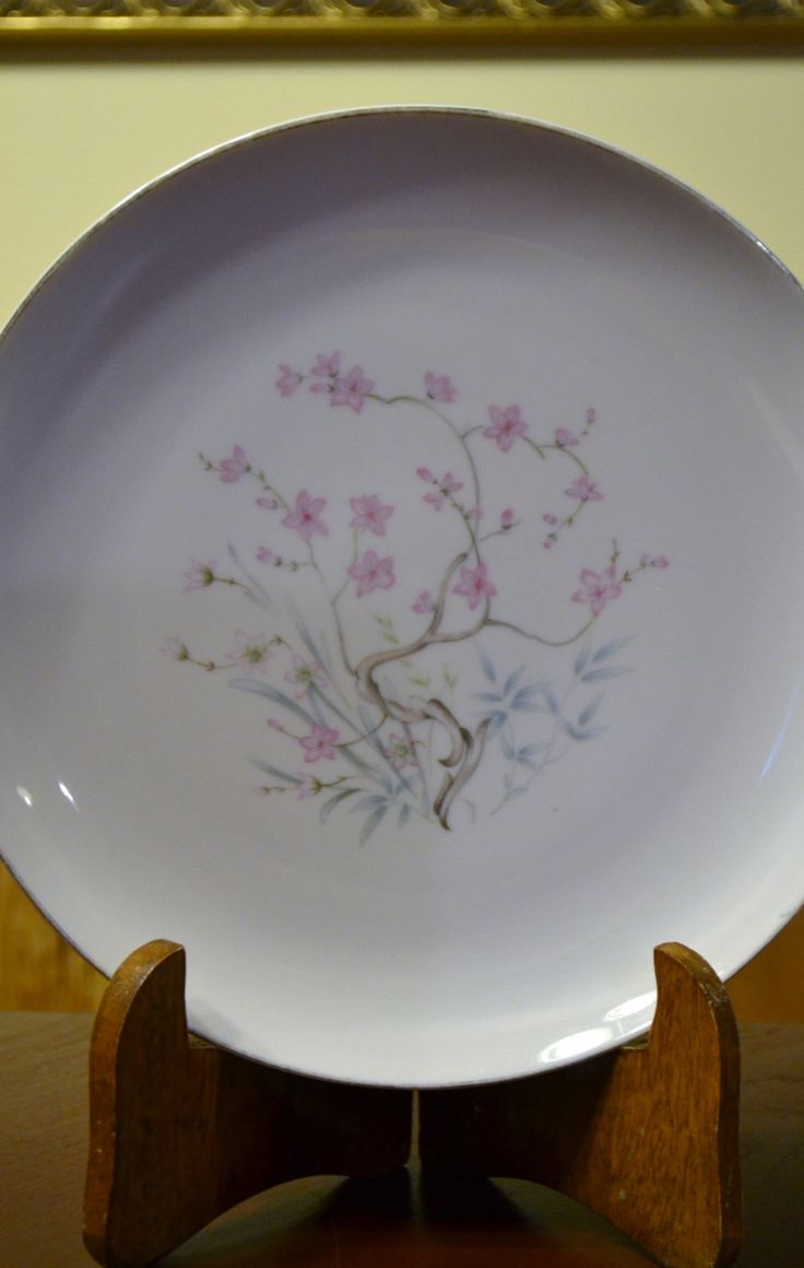 Vintage Sone China Dinner Plate Barbara Pattern White Pink Replacement PanchosPorch & The 200 best Vintage China images on Pinterest | Chalet chic ...