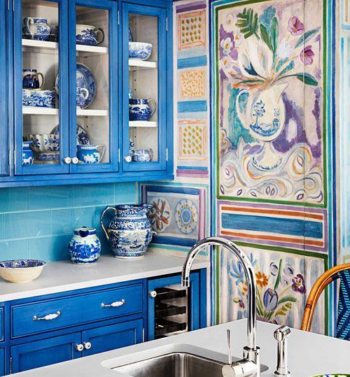 #cucina #blue&white #kitchen #design #innovation #classic