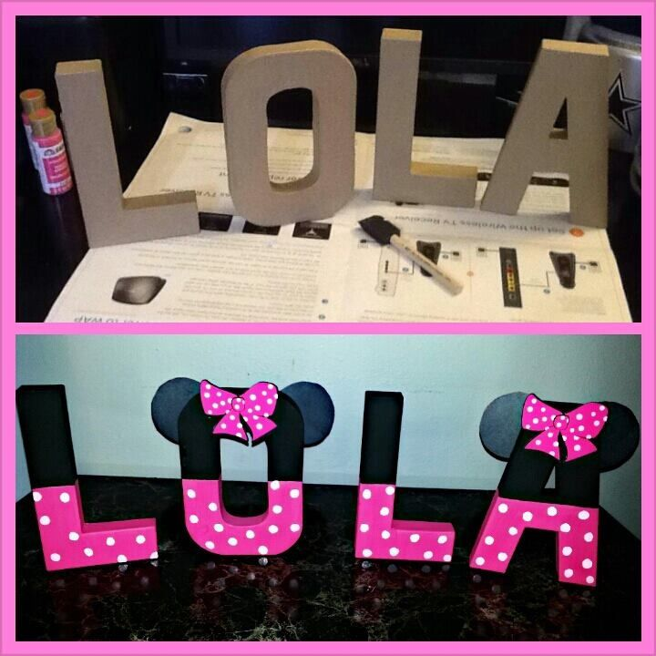 Minnie Mouse letters! Created by: Barbie b.