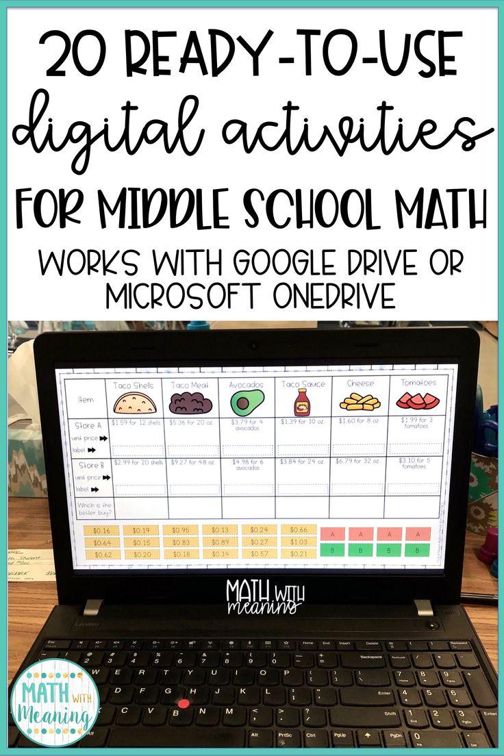 Middle School Math DIGITAL Activity Bundle Volume 1 for