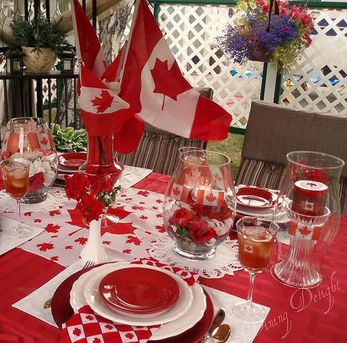 Dining Table Centerpiece Canada : Canada day table decorations centerpieces and summer