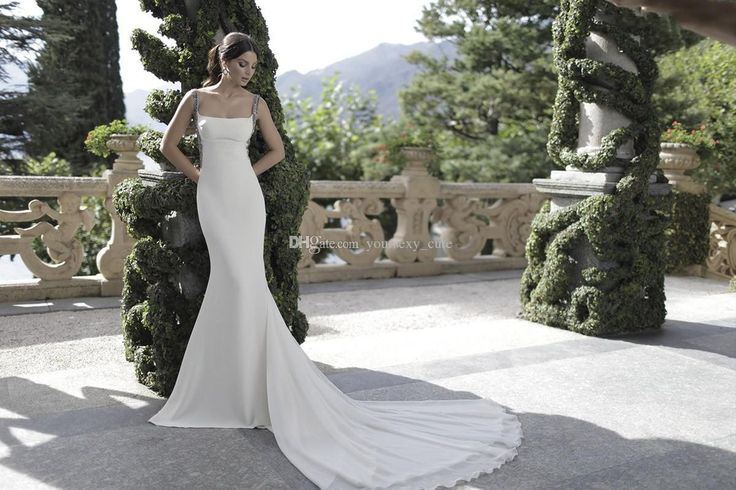 Maternity Evening Dresses 2016 Charming Tarik Ediz Evening Dresses Chiffon White Square Neck Beaded Straps Satin Backless Mermaid Evening Gowns Handmade Prom Dresses Occasion Dresses Uk From Weddingplanning, $122.2| Dhgate.Com