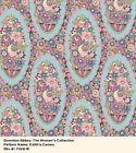 Fat quarter Patchwork Quilting Fabric Makower Downton Abbey Lady Edith 7328 B fq