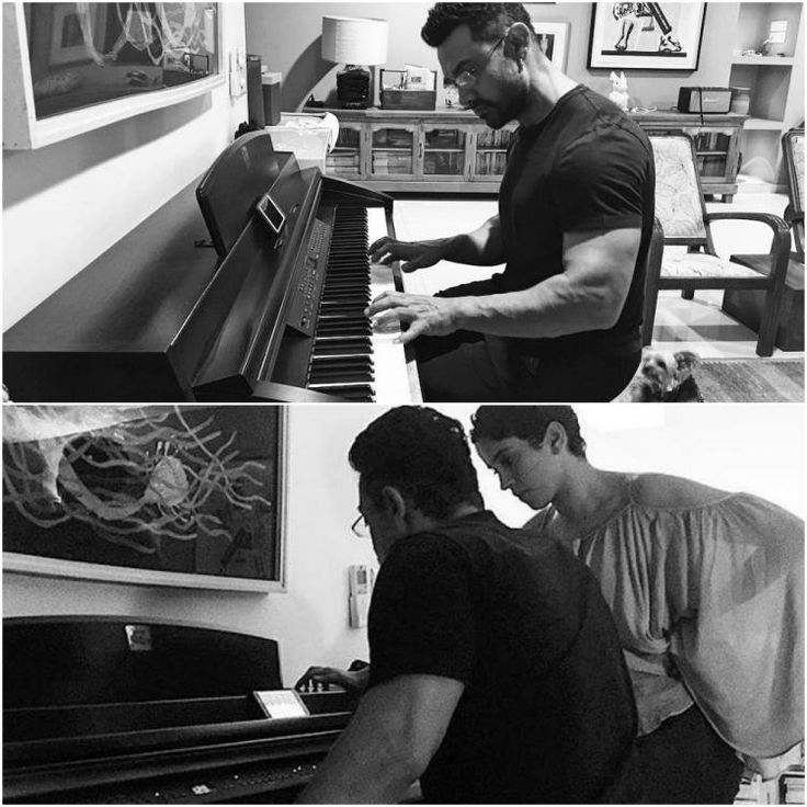 Lookit! Aamir Khan gives piano lessons to his Dangal daughters Fatima & Sanya