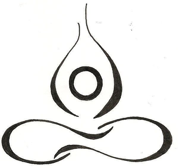 Yoga Lotus Drawing Original Tattoo. $12.00. @Reflections Holistic and Natural Healing I am so getting this tattoo :-)