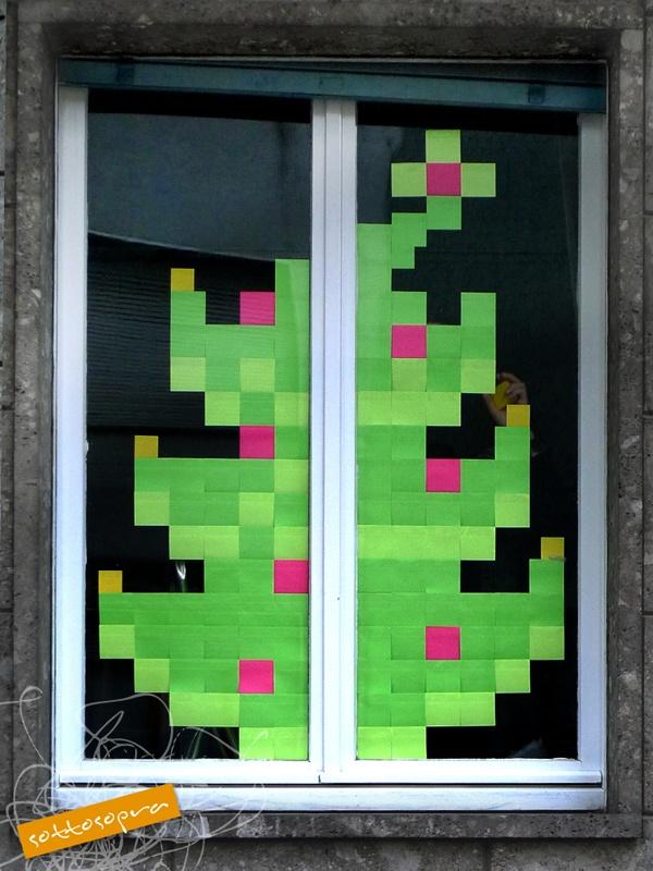 #christmas tree street art  #sottosopra comunicazione