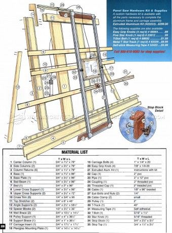 #378 Vertical Panel Saw Plans - Circular Saw Tips, Jigs and Fixtures